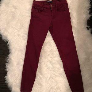Zara basic z1975 burgundy denim size 6/38